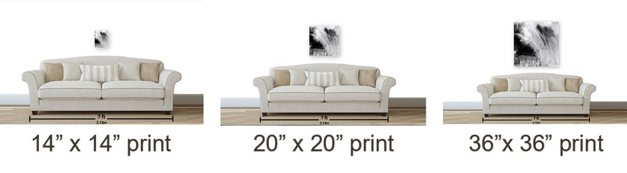how to chhose the right size of photo print for your space